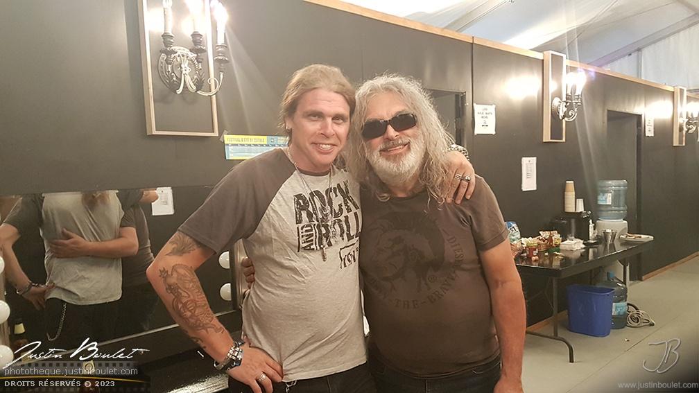 Avec Michel Pagliaro